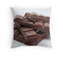 Milk Chocolate bar pieces Throw Pillow
