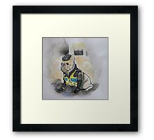 Happy Valley Dog Detective Framed Print