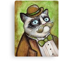 Dapper Grumpy Cat Canvas Print