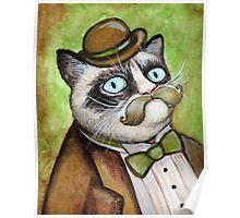 Dapper Grumpy Cat Poster