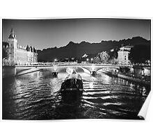 Pont Napoleon, La Conciergerie, Paris  Poster