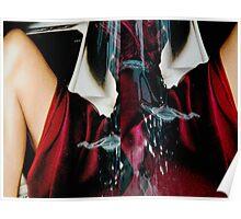 diptych (postmodern portrait in crimson) Poster