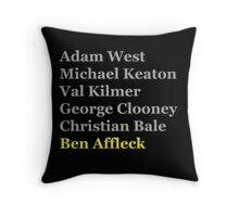 Affleck's Turn for Batman Throw Pillow