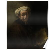 Painting - Self Portrait as the Apostle Paul, Rembrandt Harmensz. van Rijn, 1661 Poster
