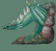 Forest Dragon (with background removed) by Dianne  Ilka