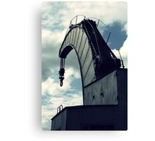 The country's only workable steam crane Canvas Print