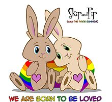 Skip & Pip (aka the Pride Bunnies) Gay Pride 2015 by Catherine Dair