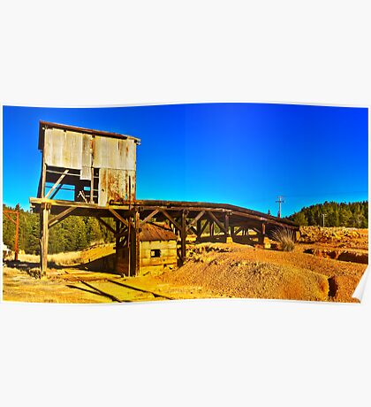 The abandoned ore loading dock at Captain's Flat  Poster