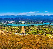 Canberra - The view from Mount Ainsley by Geoffrey Thomas