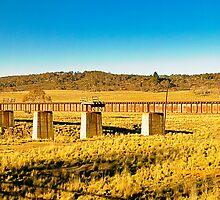 Rail bridge over the Molongolo River by Geoffrey Thomas