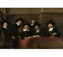 Painting - The Wardens of the Amsterdam Drapers' Guild, Known as 'The Syndics', Rembrandt Harmensz. van Rijn, 1662 Photographic Print