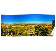The turf farm from Cowra's lookout Poster