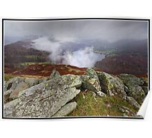 Mist above Grasmere Poster