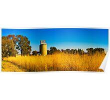 The grain silo at Cowra Poster