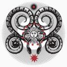 Mystical Sun Stars & Serpent by Zehda