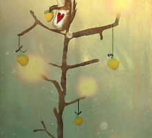 Gold squirrel glide tree alone sunset by Ruth Fitta-Schulz