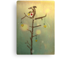 Gold squirrel glide tree alone sunset Canvas Print