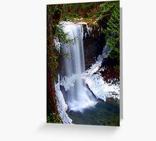 Flowing Water - Ammonite Falls Greeting Card