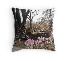 Bushfire new growth Throw Pillow