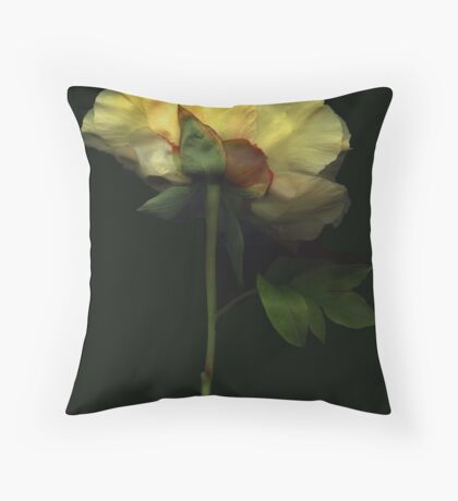 Yellow Tree Peony Throw Pillow