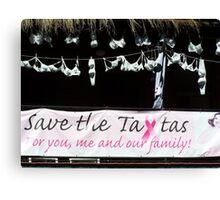Save The Tata's Canvas Print