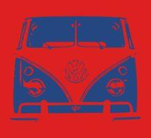 VW Kombi - Blue One Piece - Long Sleeve