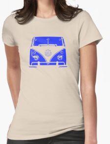 VW Kombi - Blue Womens Fitted T-Shirt