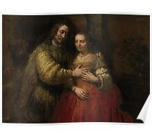 Painting - Isaac and Rebecca, Known as 'The Jewish Bride', Rembrandt Harmensz. van Rijn, c. 1665 - c. 1669 Poster