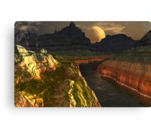 Black River Canyon Canvas Print