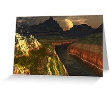 Black River Canyon Greeting Card