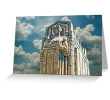 The Guardians of Traffic - Cleveland, Ohio Greeting Card