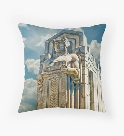 The Guardians of Traffic - Cleveland, Ohio Throw Pillow