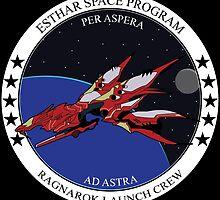 Ragnarok launch crew by Gwendolyn Edwards
