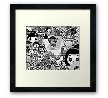 mikoto's Black & White (sans Logo) Framed Print