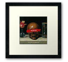 Mortis: The Blood 'n Flowers Series (Skull Edition) Framed Print