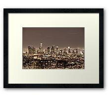 Los Angeles Matrix Framed Print