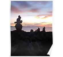 Rock Piles at Sunset. Poster