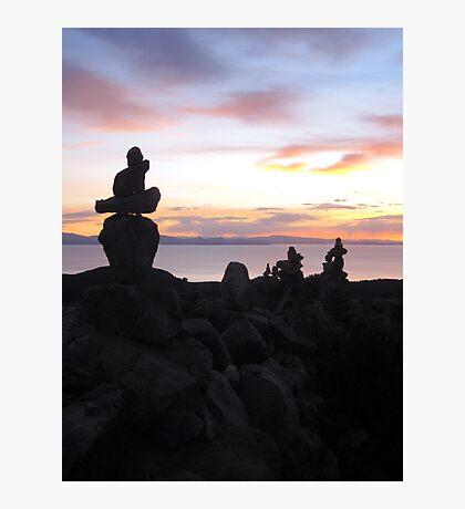 Rock Piles at Sunset. Photographic Print