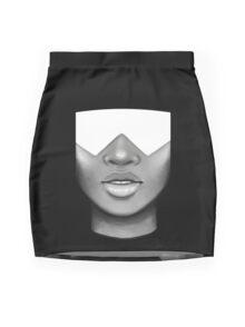Garnet Portrait Mini Skirt