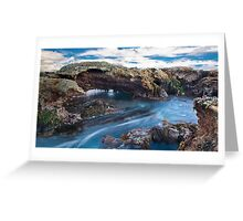 """Blue Water Flow"",Point Roadknight,Anglesea. Greeting Card"