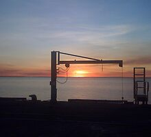 Sunset at Jetty by distinctart