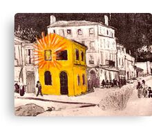 The Yellow House ( Homage to Vincent VanGogh ) Canvas Print