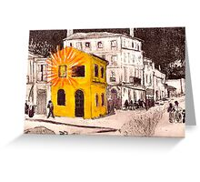 The Yellow House ( Homage to Vincent VanGogh ) Greeting Card