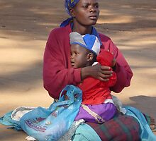 Malawi: Beauty with Baby by Anita Deppe