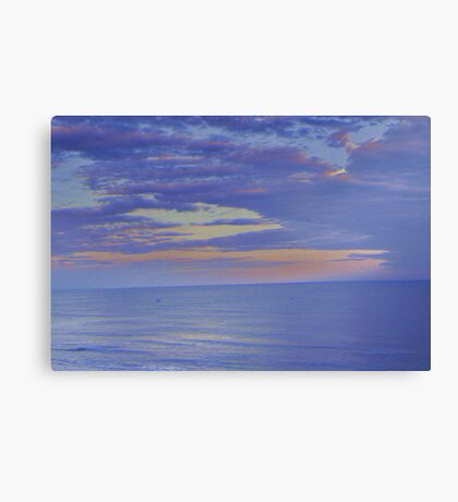How Tranquil, The Sea Canvas Print