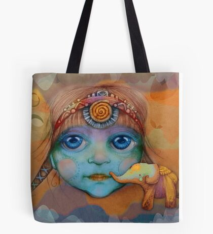 The Golden Elephant Tote Bag
