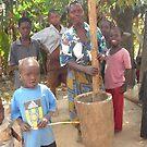 Malawi: pounding maize by Anita Deppe