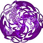 Tattoo Mandala Lizards -  Lavender Tattoo by DreaMground
