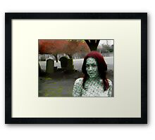 Mother Nature Visits The Memorial To Fallen Leaves Framed Print