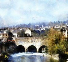 bridge city of bath by cynthiab